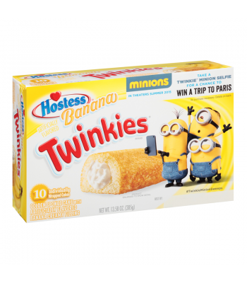 Hostess Banana Creme Twinkies 10 Pack Box Snack Cakes Hostess
