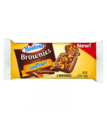 Hostess - Butterfinger Brownie Twin Pack - 3.53oz (100g) Cookies and Cakes Hostess