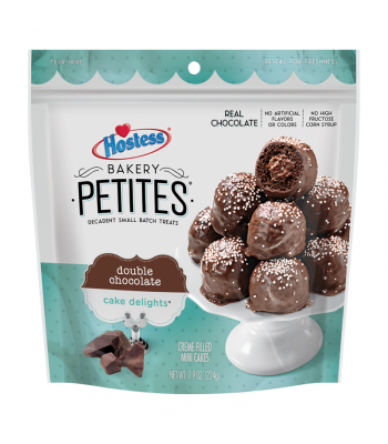 Hostess Bakery Petites Double Chocolate - 7.9oz (224g) Cookies and Cakes Hostess