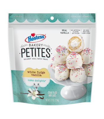 Hostess Bakery Petites White Fudge Vanilla - 7.9oz (224g) Cookies and Cakes