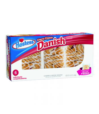 Hostess - Cherry Cheese Danish 6-Pack - 16.5oz (468g) Cookies and Cakes Hostess