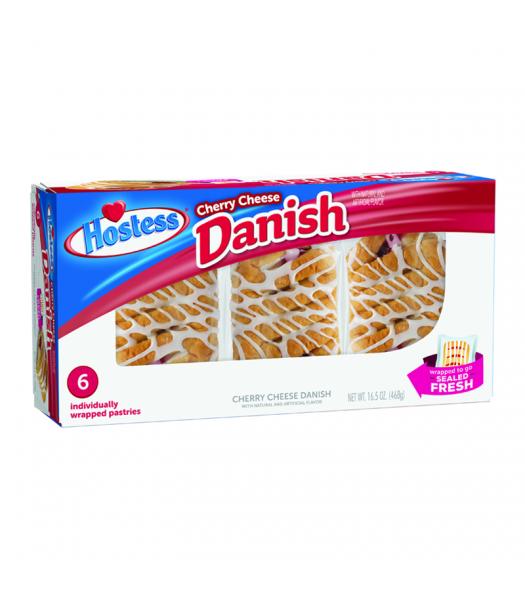 Hostess - Cherry Cheese Danish 6-Pack - 16.5oz (468g) Cookies and Cakes Hostess