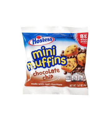 Hostess Chocolate Chip Mini Muffins 1.61oz (46g) Snack Cakes Hostess