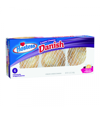 Hostess - Cream Cheese Danish 6-Pack - 16.5oz (468g) Cookies and Cakes Hostess