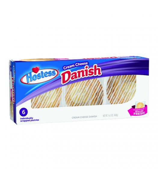 Hostess - Cream Cheese Danish 6-Pack - 16.5oz (468g) Cookies and Cakes Hostess
