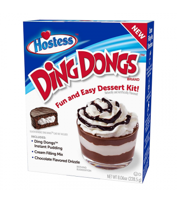 Hostess Ding Dongs Dessert Kit - 8.06oz (228.5g) Food and Groceries Hostess