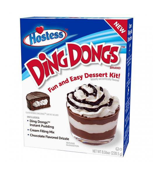 Hostess Ding Dongs Dessert Kit - 8.06oz (228.5g) Food and Groceries Hostess