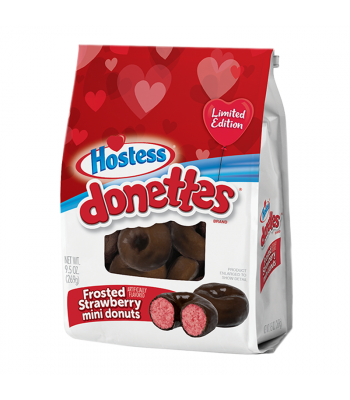 Hostess Valentines Frosted Strawberry Mini Donettes - 9.5oz (269g) Food and Groceries Hostess
