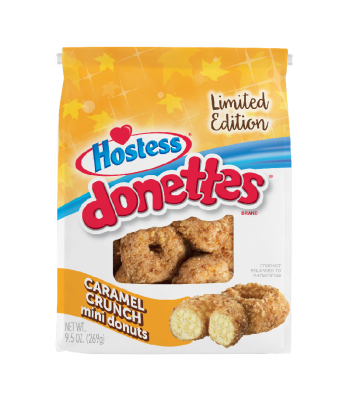 Hostess Limited Edition Caramel Crunch Mini Donettes - 9.5oz (269g)  Cookies and Cakes Hostess
