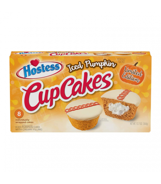 Hostess Iced Pumpkin Cupcakes 8-Pack - 12.7oz (360g) Food and Groceries Hostess