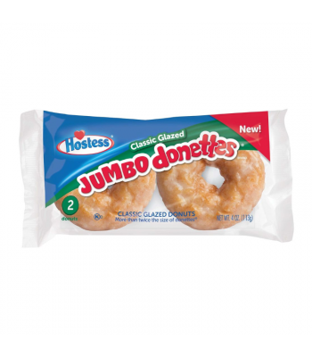 Hostess Jumbo Glazed Donettes - Twin Pack - 4oz (113g) Cookies and Cakes Hostess