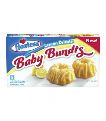 Hostess Lemon Drizzle Baby Bundts 8-Pack - 10oz (284g) Cookies and Cakes