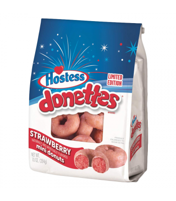 Hostess Limited Edition Glazed Strawberry Mini Donettes 10oz (284g)  Cookies and Cakes Hostess