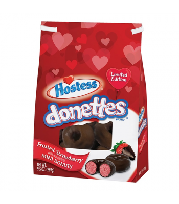 Hostess Valentines Frosted Strawberry Mini Donettes - 9.5oz (269g) Cookies and Cakes Hostess