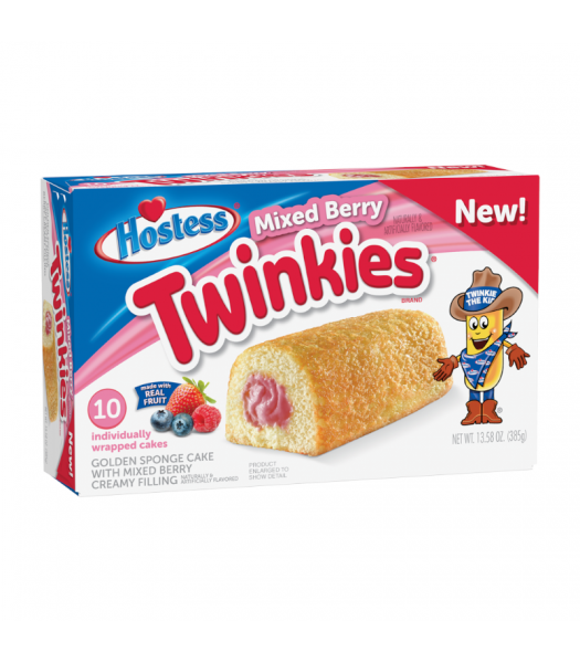 Hostess Mixed Berry Twinkies - 13.58oz (385g) Cookies and Cakes