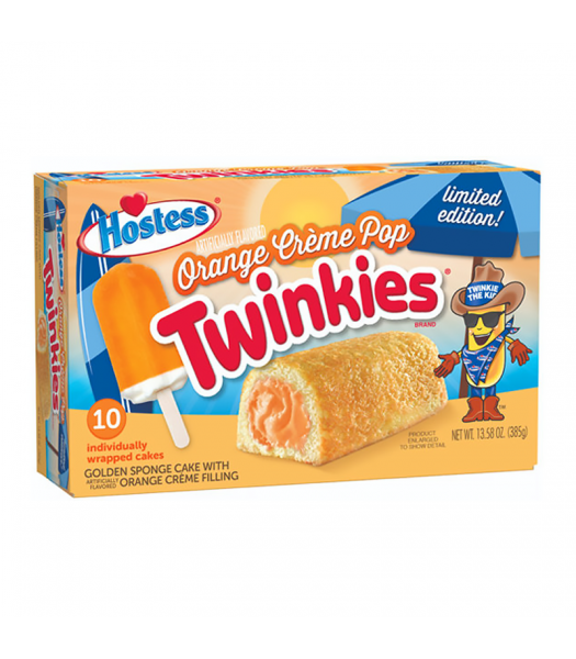 Hostess Limited Edition Orange Creme Pop Twinkies 10-Pack - 13.58oz (385g) Cookies and Cakes Hostess