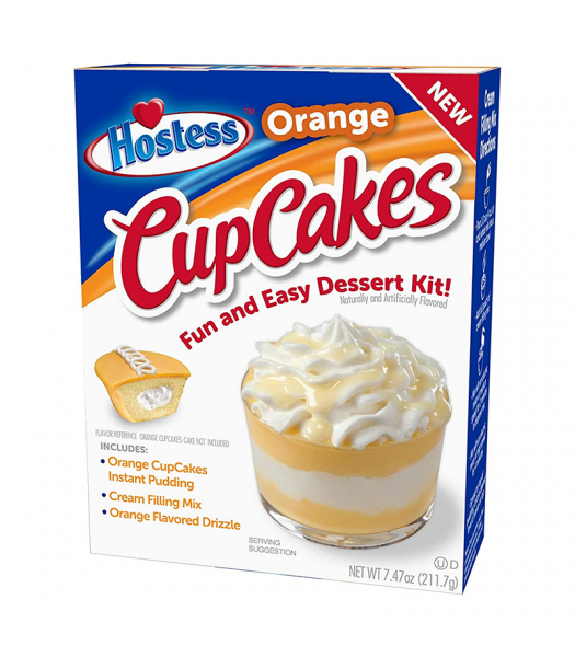 Clearance Special - Hostess Orange Cupcakes Dessert Kit - 7.47oz (211.7g) **Best Before: August 21** Clearance Zone