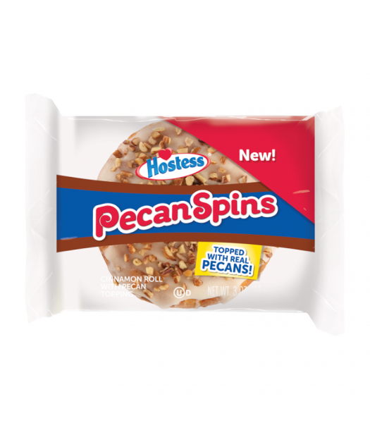 Hostess Pecan Spins Cinnamon Roll - 3oz (85g) Cookies and Cakes Hostess