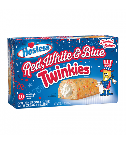 Hostess Red White & Blue Twinkies 10-Pack 13.58oz (385g) Cookies and Cakes Hostess