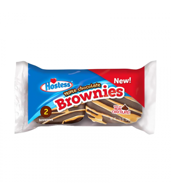 Hostess Triple Chocolate Brownies Twin Pack - 2.96oz (84g) Cookies and Cakes Hostess