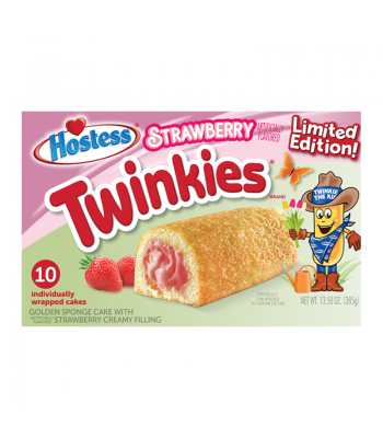 Hostess Limited Edition Strawberry Twinkies 10-Pack - 13.58oz (385g) Cookies and Cakes Hostess