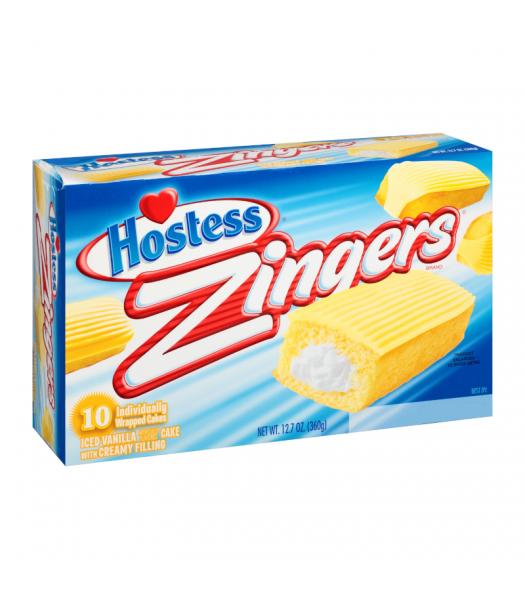 Hostess Zinger Vanilla Creme - SINGLE Cookies and Cakes Hostess
