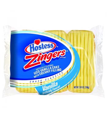 Hostess - Vanilla Zingers - Triple Pack 3.81oz (108g) Snack Cakes Hostess