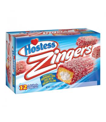 Hostess Zingers Raspberry - 10 Pack Box Snack Cakes Hostess