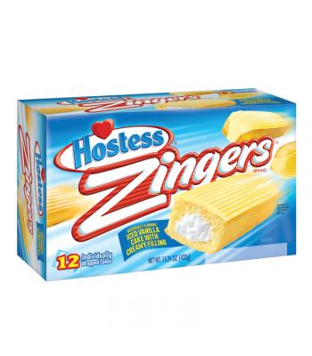 Hostess Zingers Vanilla - 10 Pack Box Snack Cakes Hostess