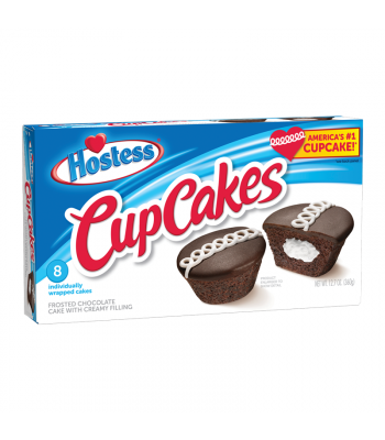 Hostess Frosted Chocolate Cup Cakes 8-Pack 12.7oz (360g) Cookies and Cakes Hostess