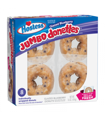 Hostess Glazed Blueberry Jumbo Donettes 8-Pack- 16oz (454g) Cookies and Cakes Hostess