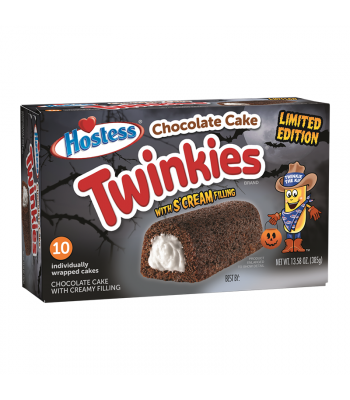 Hostess Halloween Chocolate Cake Twinkies 10-Pack 13.58oz (385g) Cookies and Cakes Hostess