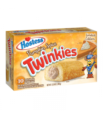 Hostess - Pumpkin Spice Twinkies 10-Pack - 13.58oz (385g) Cookies and Cakes Hostess