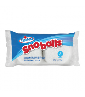 Hostess - Sno Balls - Twin Pack 3.5oz (99g) Cookies and Cakes Hostess
