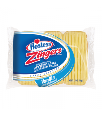 Hostess - Vanilla Zingers - Triple Pack 3.81oz (108g) Cookies and Cakes Hostess