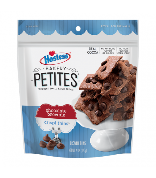 Hostess Bakery Petites Chocolate Brownie Crispi Thins - 6oz (170g) Cookies and Cakes Hostess
