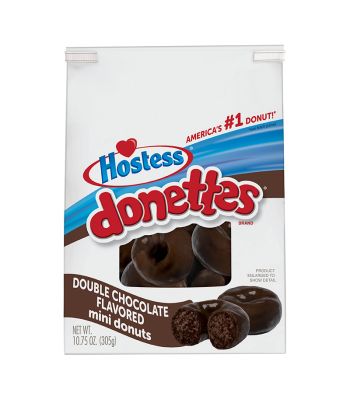 Hostess Double Chocolate Mini Donettes 10.75oz (305g) Cookies and Cakes Hostess