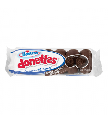 Hostess Double Chocolate Flavoured Donettes - 3oz (85g) Cookies and Cakes Hostess