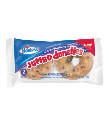 Hostess - Glazed Blueberry Jumbo Donettes - Twin Pack - 4oz (113g) Food and Groceries Hostess