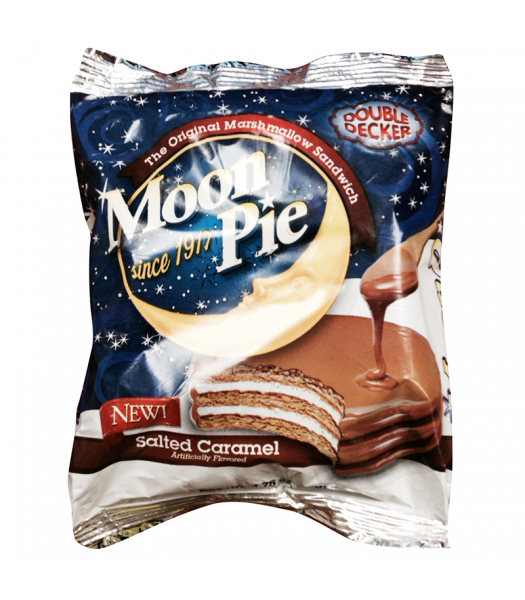 Clearance Special - Moon Pie Salted Caramel Double Decker 2.75oz (78g) **Best Before: 16 March 21** Clearance Zone