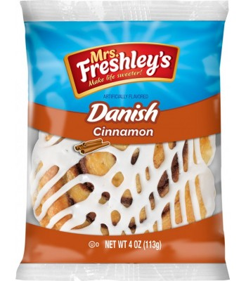 Clearance Special - Mrs Freshley's Cinnamon Danish 4oz (113g) **DAMAGED** Clearance Zone