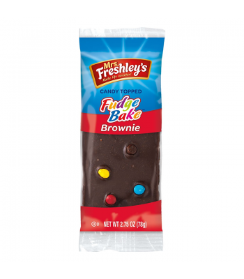Mrs Freshleys Candy Topped Fudge Bake Brownie 2.75oz (78g) Brownies & Bars Mrs Freshley's