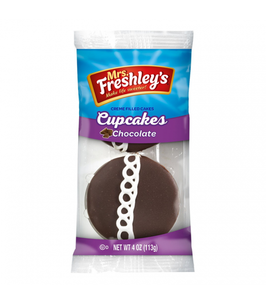 Mrs Freshley's Chocolate Cupcakes Twin Pack 4oz (113g) Cookies and Cakes Mrs Freshley's