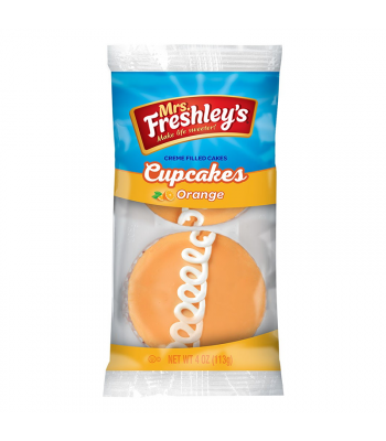 Mrs Freshley's Orange Cupcakes Twin Pack 4oz (113g) Snack Cakes Mrs Freshley's