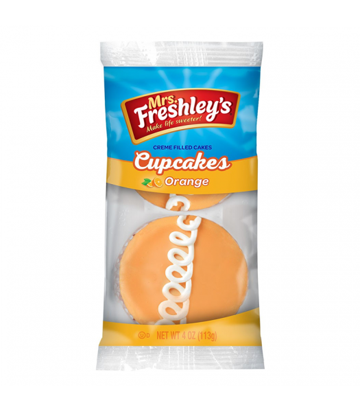 Mrs Freshley's Orange Cupcakes Twin Pack 4oz (113g) Cookies and Cakes Mrs Freshley's