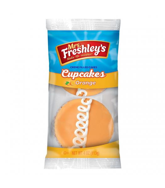 Mrs Freshley's Orange Cupcakes Twin Pack 4oz (113g) Snack Cakes Mrs Freshley's