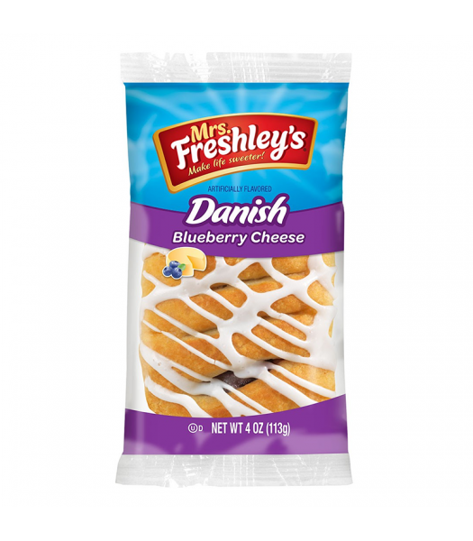 Mrs Freshley's - Blueberry Cheese Danish - 4oz (113g) Cookies and Cakes Mrs Freshley's