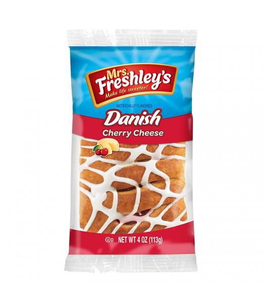Mrs Freshley's - Cherry Cheese Danish - 4oz (113g) Cookies and Cakes Mrs Freshley's