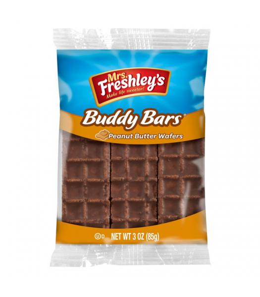 Mrs Freshley's Buddy Bar Peanut Butter Wafers Triple Pack 3oz (85g) Chocolate, Bars & Treats Mrs Freshley's