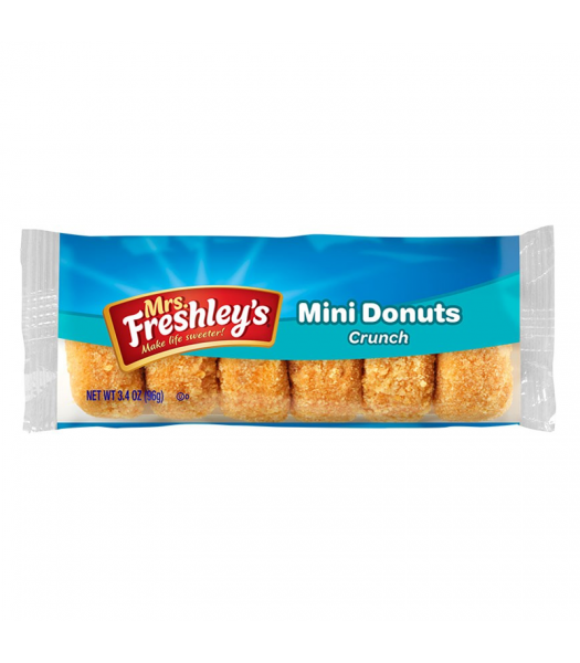 Mrs Freshley's Crunch Mini Donuts 3.4oz (96g) Cookies and Cakes Mrs Freshley's